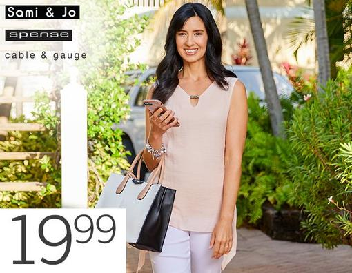 19.99 Wear 2 Work Sleeveless Tops from Sami & Jo, Spense and Cable & Gauge