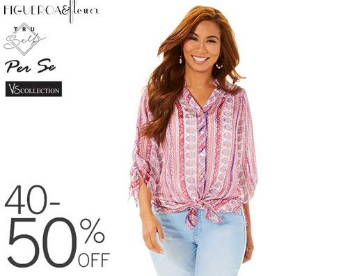 40-50% Off Fashion Apparel from Figueroa & Flower, Tru Self, Per Se and VS Collection