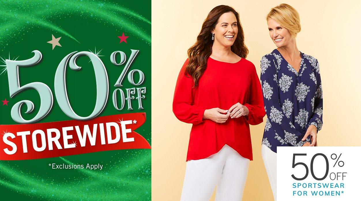 50% Off Storewide* featuring 50% Off Sportswear for Women* | *Exclusions Apply