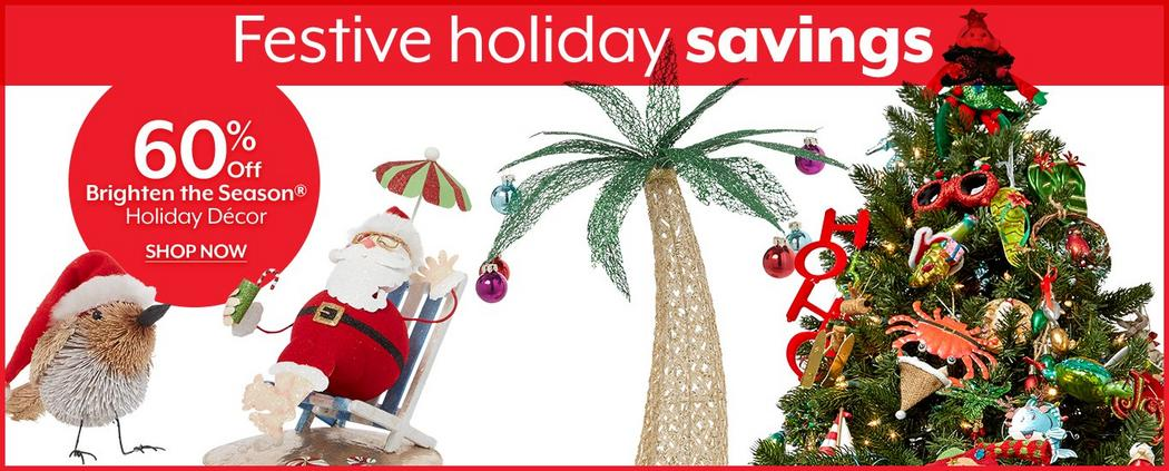 Festive holiday savings - Shop 60% Off Brighten the Season Holiday Decor
