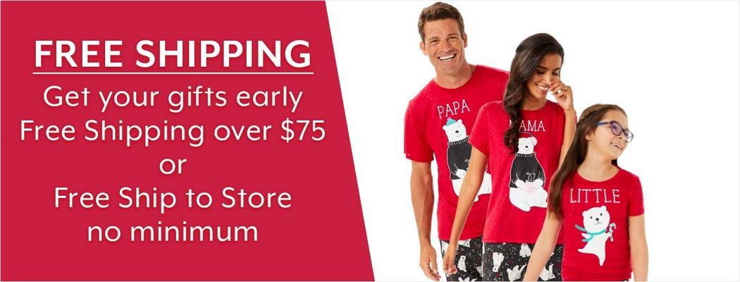 Free Shipping - Get your gifts early - Free Shipping over $75 or Free Ship to Store no minimum