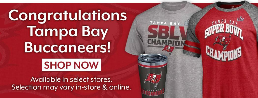 Congratulations Tampa Bay buccaneers! Shop Now - Available in select stores. Selection may vary in-store & online.