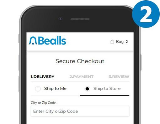 Mobile phone with Ship to Store selected at checkout