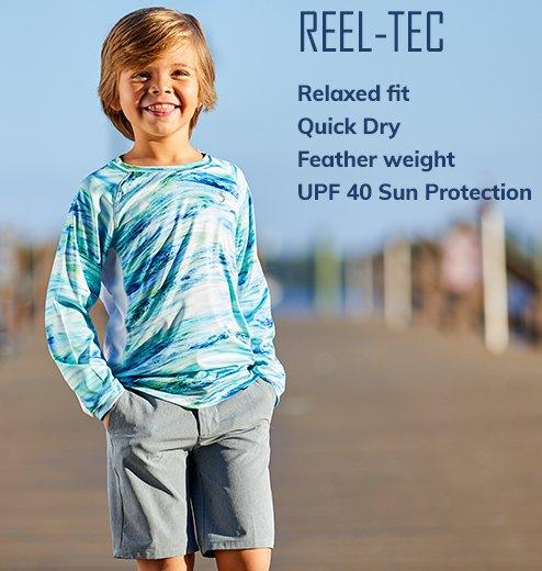 Reel-Tec - Relaxed fit | Quick Dry | Feather weight | UPF 40 Sun Protection