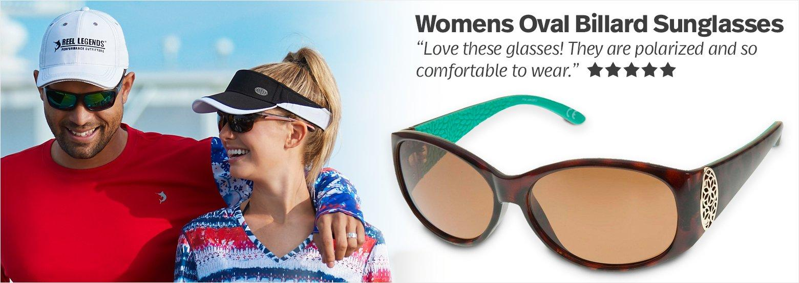 Womens Oval Billard Sunglasses