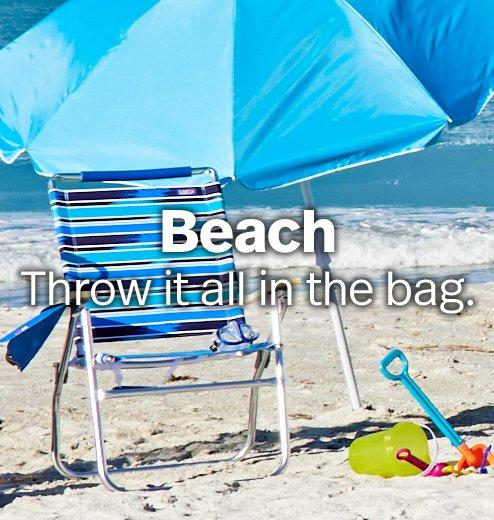 Beach - Throw it all in the bag.
