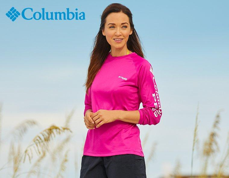 Columbia PFG Long Sleeve Pink Shirt