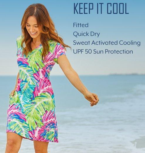 Keep It Cool - Fitted | Quick Dry | Sweat Activated Cooling | UPF 50 Sun Protection