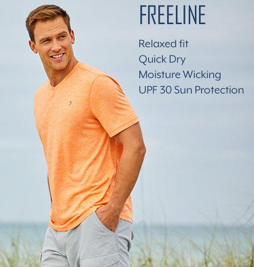 Freeline - Relaxed fit | Quick Dry | Moisture Wicking | UPF 30 Sun Protection