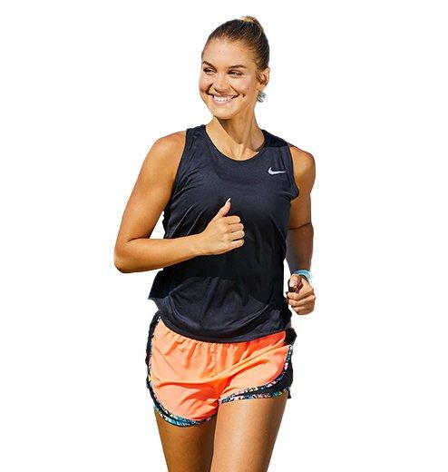 Woman in Running attire