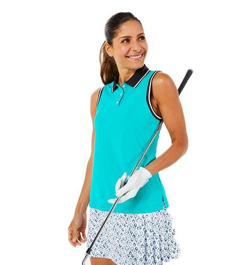 Woman wearing Golf attire