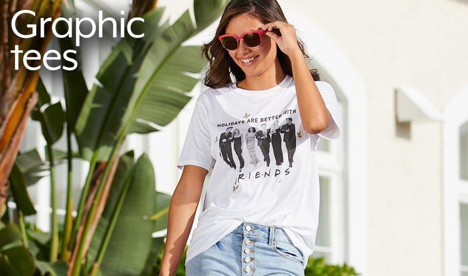 Juniors Graphic Tees Friends Photograph T-Shirt