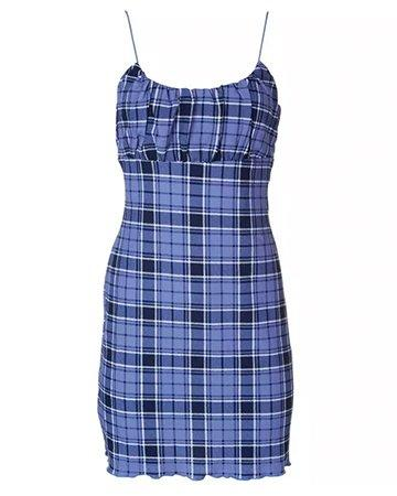Plaid sleeveless Dress