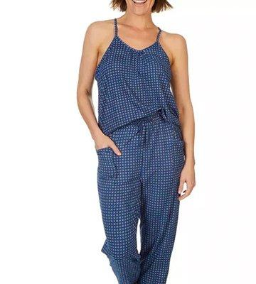 Filigree Print Jogger Pajama Jumpsuit