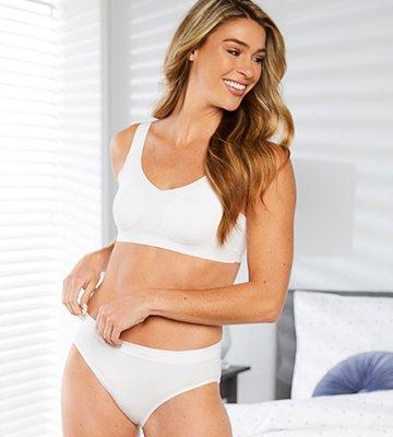 Bali Comfort Flex Fit White Bra and Panty