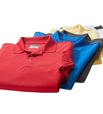 Solid Red Blue Yellow Short Sleeve Polo Shirts