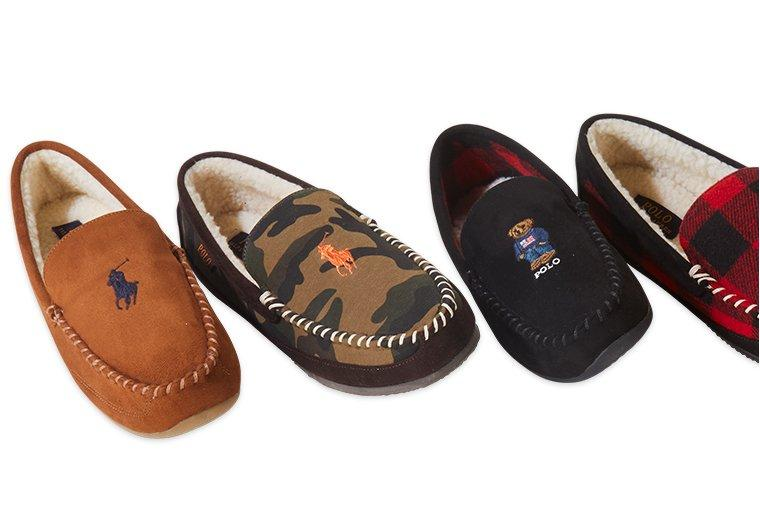 Brown camouflage Black Spun Slippers