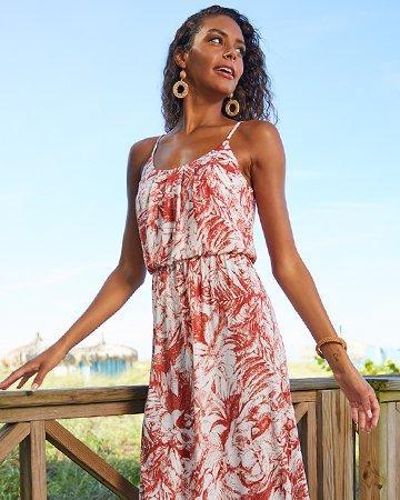 August Womens Tropical Print Dress
