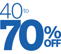 40 to 70% Off
